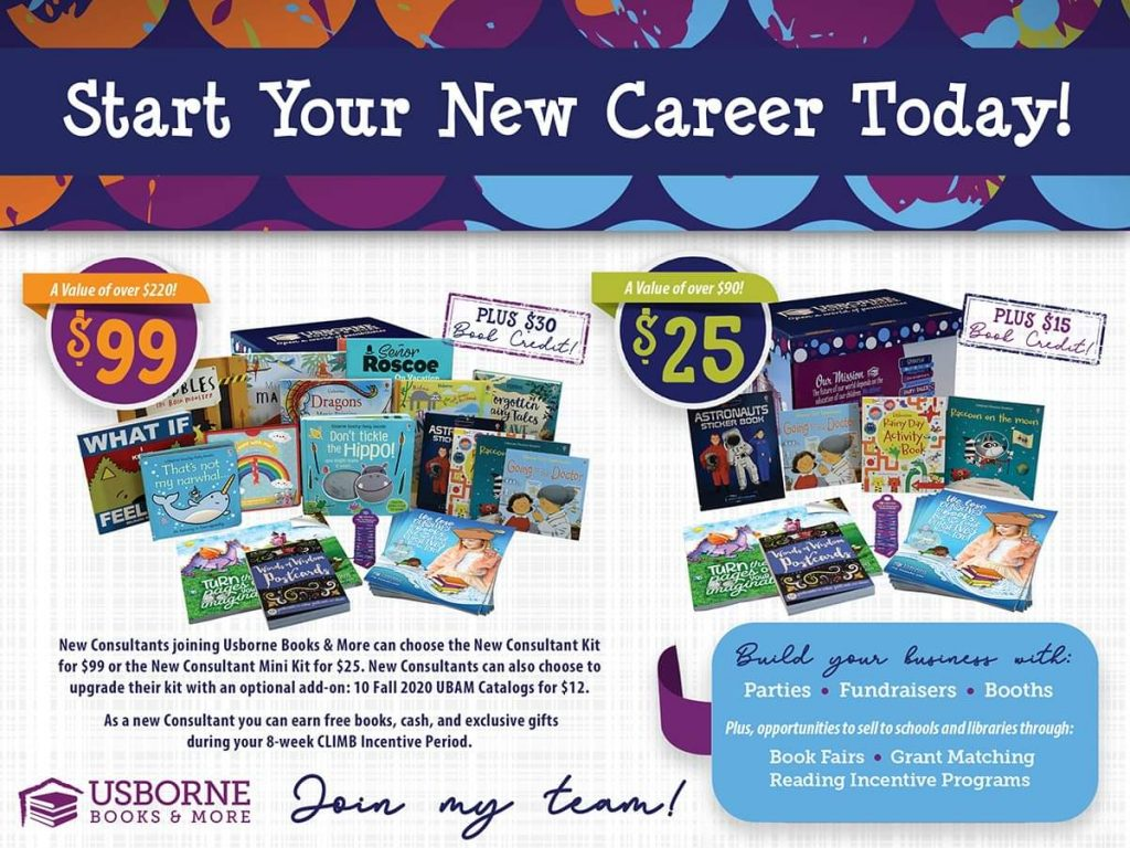 New Usborne Books & More kit options