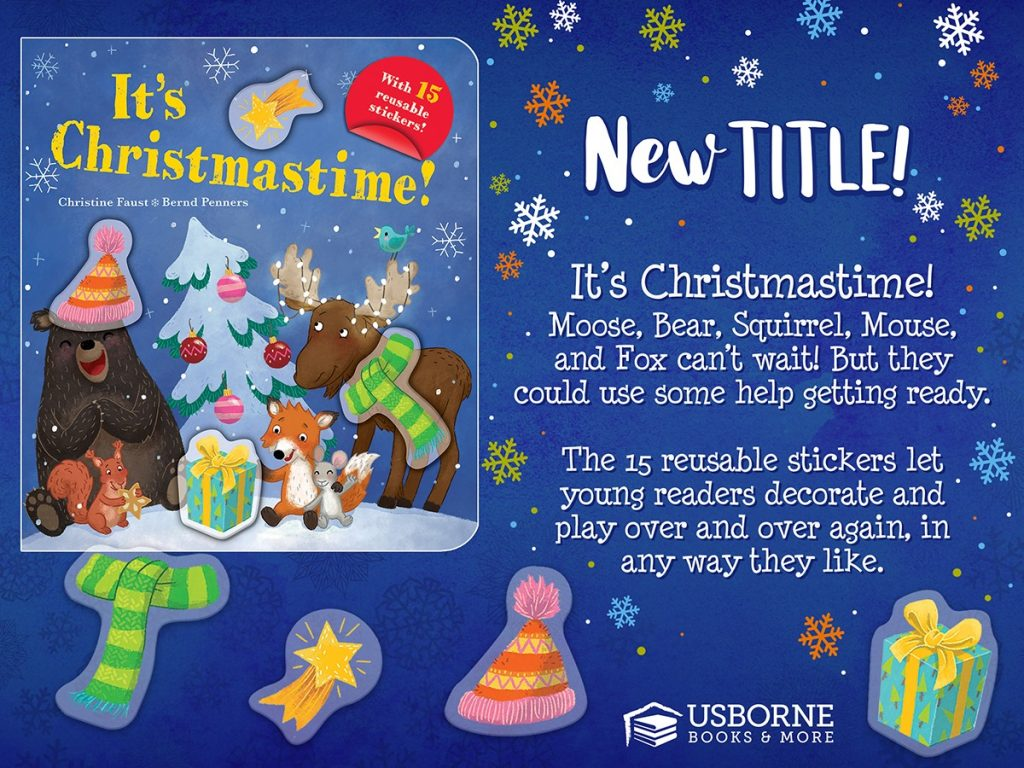It's Christmastime Sticker Book from Usborne Books & More
