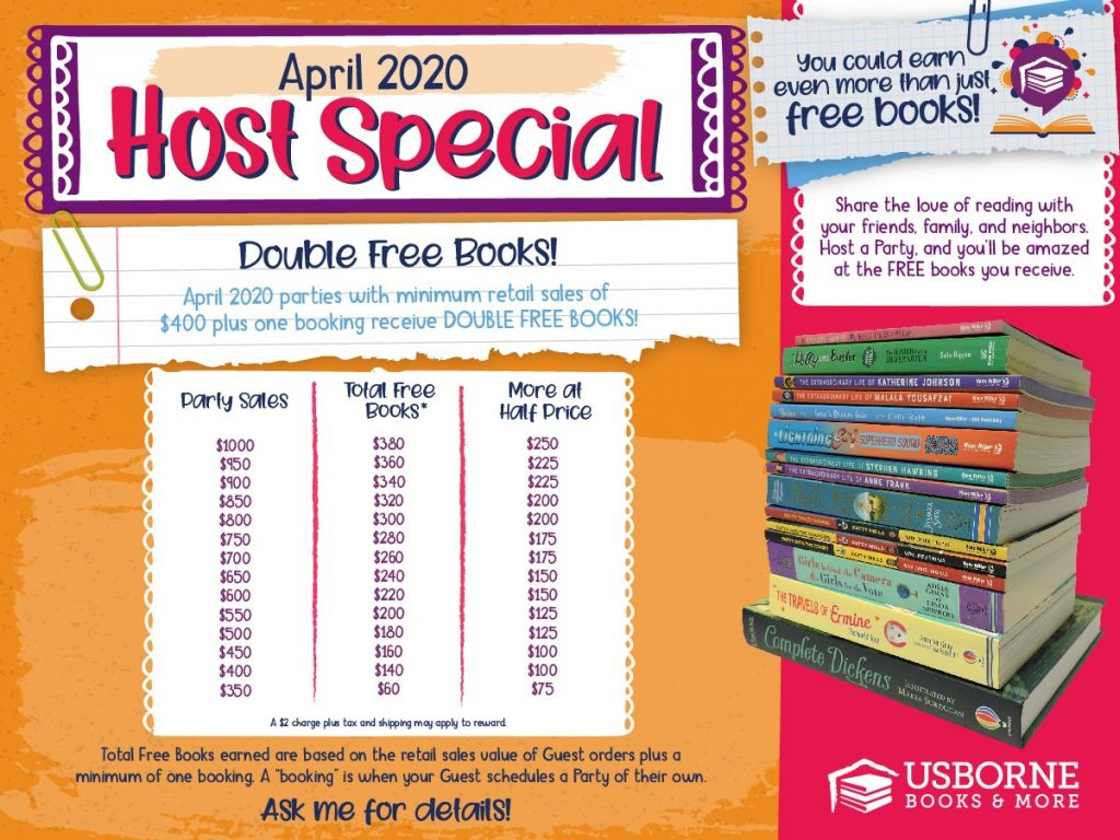 April Usborne Host Rewards