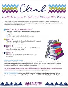 New Consultant Climb Program from Usborne Books & More