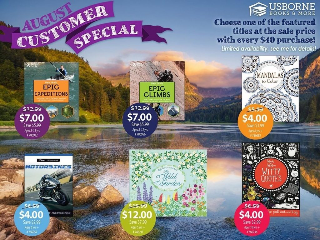 Usborne August Customer Specials
