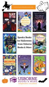 Books for Halloween Pinterest Graphic